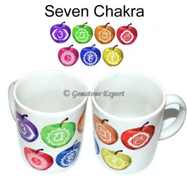Seven Chakra Apple Printed Mug