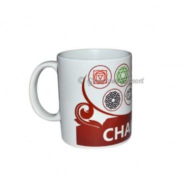 Maroon Seven Chakra Printed Mug
