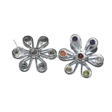 Flower Seven Chakra Earring