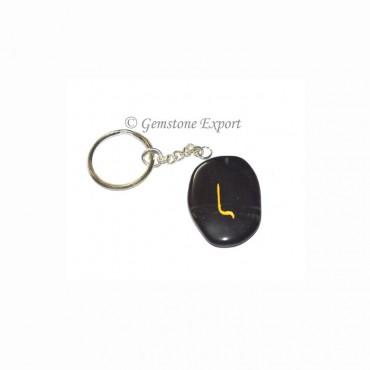 Black Agate Unshape Rune Keychain