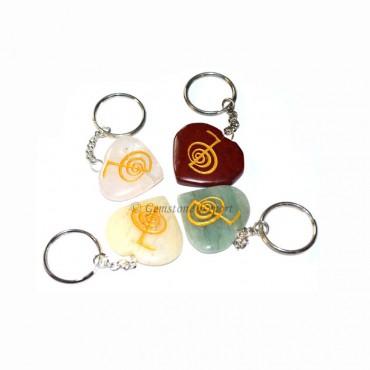Mix Heart Cho ko Reiki Keychain