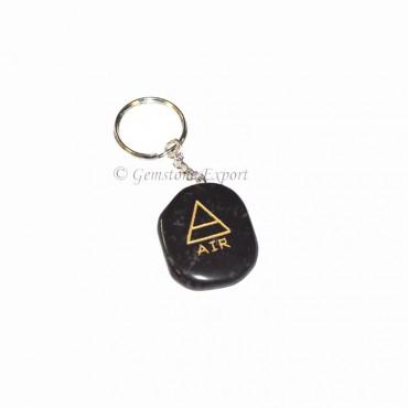 Black Agate Unshape Air Keychain