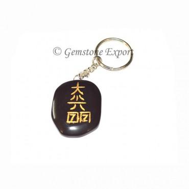 Black Stone Reiki Keychain