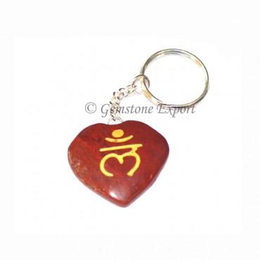 Red Jasper Lam Keychain