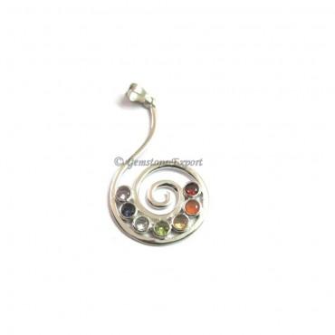 Chakra Hanging Spiral Pendants