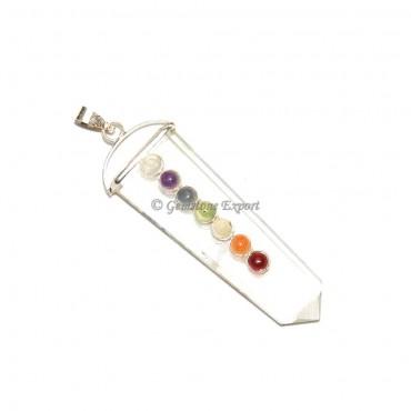 Crystal Quartz Chakra Pendants