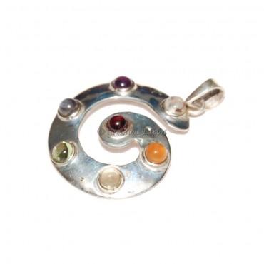 Seven Chakra Silver Pendants