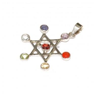 Star Seven Chakra 925 Silver Pendants