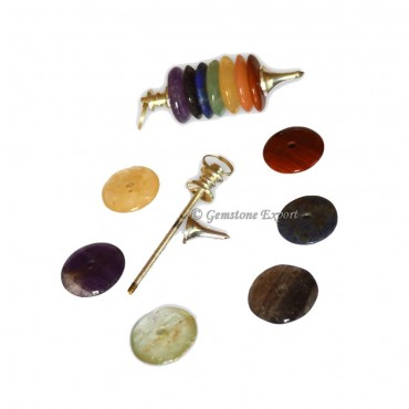 Seven Chakra Circel Pendulum
