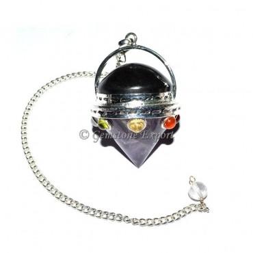 Amethyst Engery Cone Chakra Pendulum