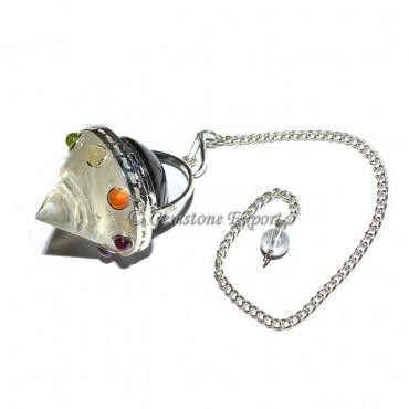 Crystal Quartz Energy Cone Chakra Pendulum