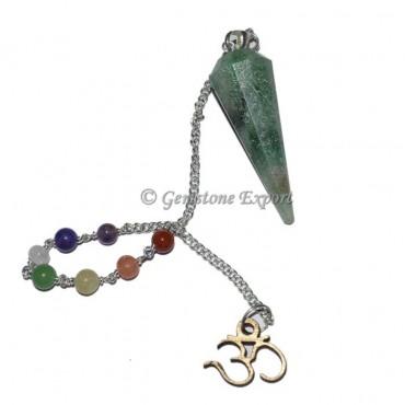 Green Aventruine Chakra Pendulum With Om