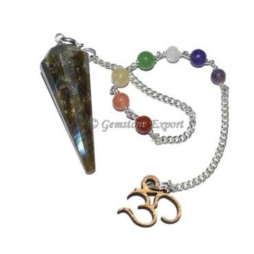 Labradorite 7 Chakra Pendulum