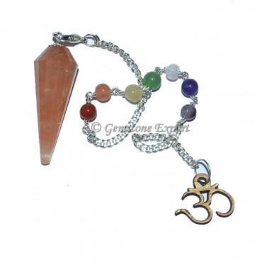 Peach Aventruine Chakra Pendulum