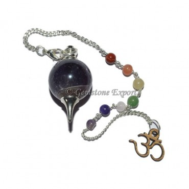 Amethyst Sphere Chakra Dowsing Pendulum