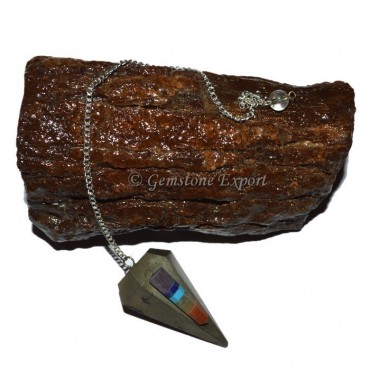 Pyrite Rocket Chakra Pendulum