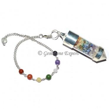 Chakra Chamber Pendulum With Chakra Chain