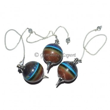 Seven Chakra Bonded Sphere Pendulum
