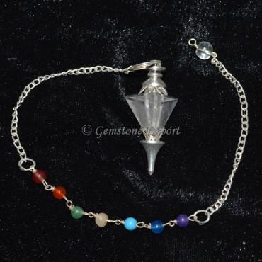 Crystal Quartz Pyramid Chakra Pendulum
