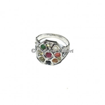 The Nine Planets Silver Chakra Ring