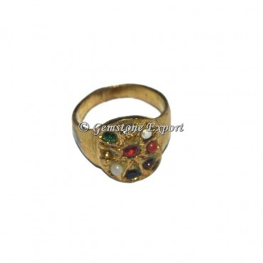 The Nine Planets Antique Chakra Ring