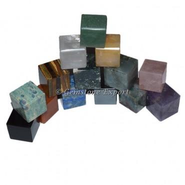 Mix Gemstone Cubes
