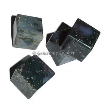 Moss Agate Cubes