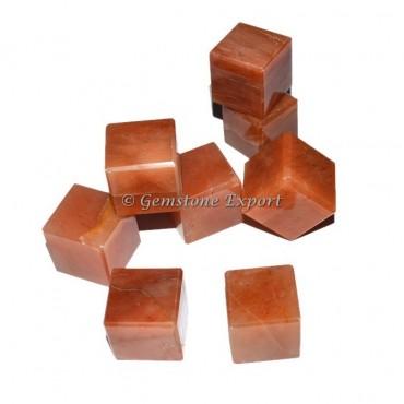 Peach Aventurine Cubes
