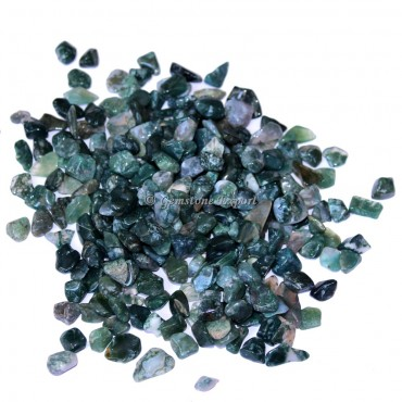 Moss Agate Chips Stones