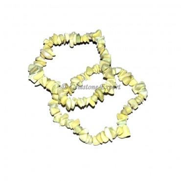 Yellow Opal Chips Bracelets