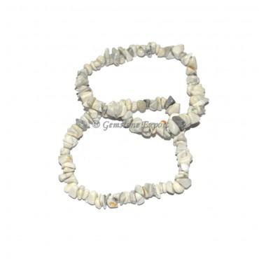 White Howlite Chips Bracelets