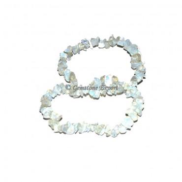 Rainbow Moon Stone Chips Bracelets