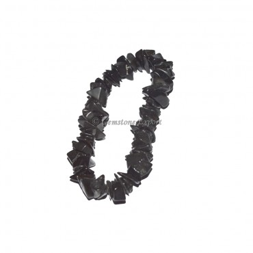 Black Agate Chips Bracelets
