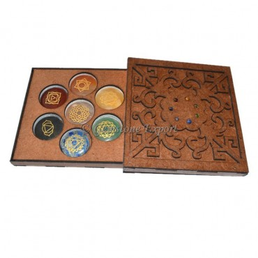 Chakra Stone Engraved Gift Box