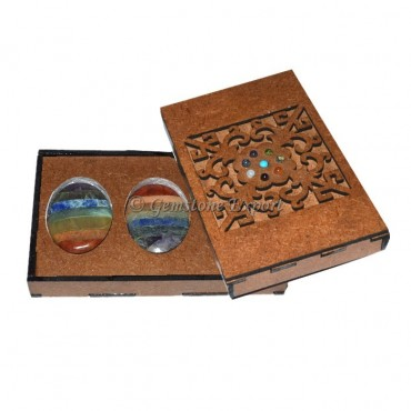 Bonded Seven Chakra Oval Gift Box