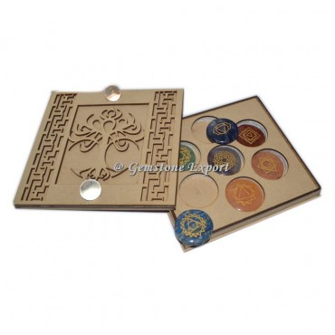 Tree Of Life Chakra Wooden Gift Box With Crystal Quartz Ball