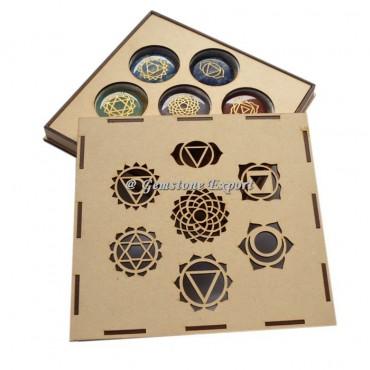7 Chakra Symbol Wooden Gift Box
