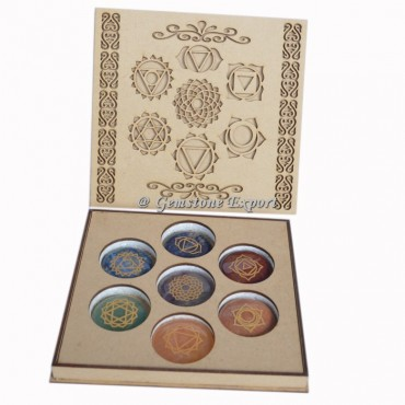 Seven Chakra Symbol Wooden Gift Box