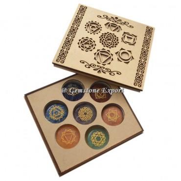 7 Chakra Design Wooden Gift Box