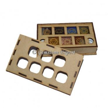 Seven chakra Pyramid Set With Wooden Gift Box