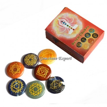 Seven Chakra Set Engraved With Box