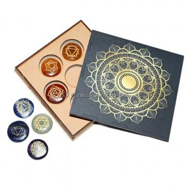 Seven Chakra Set With Geometry Gift Box
