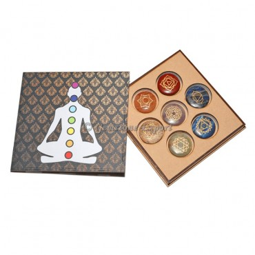 Seven Chakra Set With Wooden Gift Box