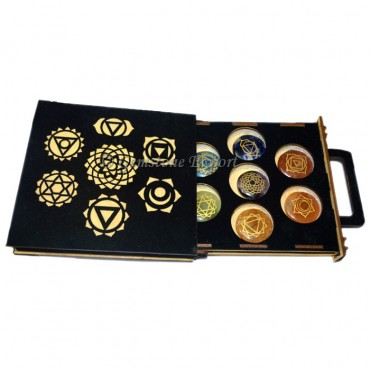 Engraved Chakra Set with Gift Box