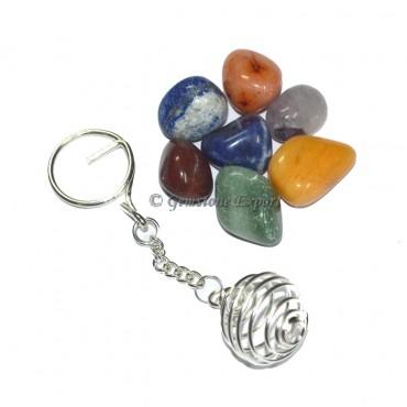 Plan Chakra Tumbled Keychain Set