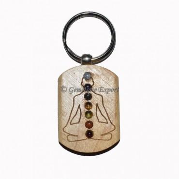 Chakra Buddha Woodan Keychain