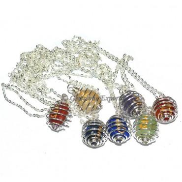 Chakra Tumbled Sanskrit Necklace
