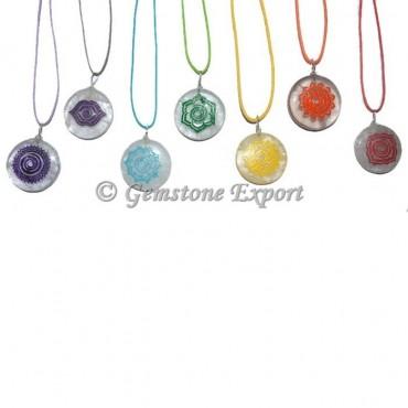 Meditation Crystals 7 Chakra Pendant Set