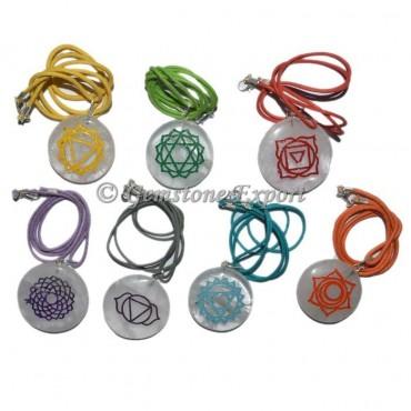 7 Chakra Engraved Crystals Pendant