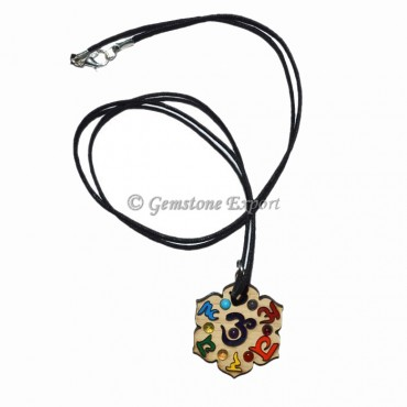 Seven Chakra Engraved Necklace